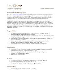 Photographer Resume Sample Resume For A Photographer Freelance Photographer Resume Freelance 7