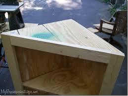 corner desk plans woodworking free best of diy corner cabinet my repurposed life