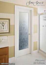 interior frosted glass door. Etched Glass Doors Traditional Floral Bathroom Interior Frosted Door A