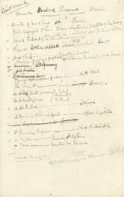 dracula stoker s handwritten notes on the characters in the novel