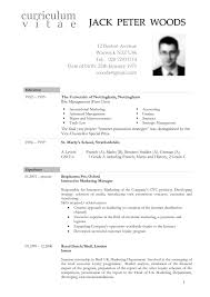 Examples Of Resumes Cv Format For Be How To Write A Or