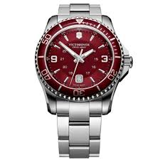 victorinox maverick gs red dial stainless steel mens watch 241604 victorinox maverick gs red dial stainless steel mens watch 241604