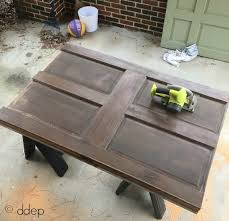 cut down door with circular saw how to build a daybed from old doors
