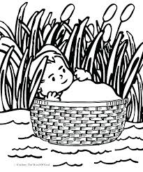 Free Coloring Pages For Baby Moses Bible Best Of Page Preschool Fun