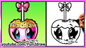 Small Picture Cute Candy Apple How to Draw Halloween Pictures Easy Food
