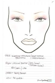 Mac Chart Mac Cosmetics N Collection Face Charts From Fashion Week