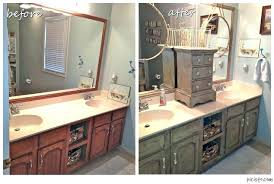 bathroom cabinet refacing before and after. Oak Cabinet Refacing Before And After Full Image For Painting Cabinets Pictures Bathroom