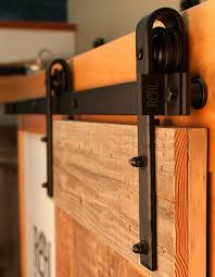 sliding barn doors. black hammered hardware on salvage barn door sliding track doors n