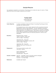 Cover Letter Objective On Resume Example Objective On Resume