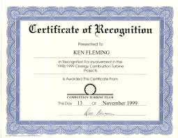 Certificate Of Recognition Template Free Download Certificate Of Recognition Template Free Download 5 Elsik Blue Cetane