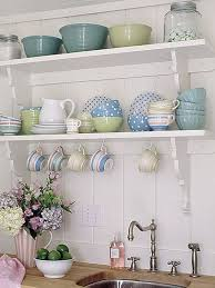 match style of open shelves to style of your kitchen