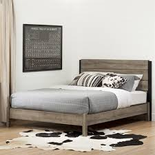 South Shore Furniture Munich Platform Bed with Headboard