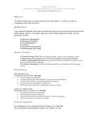 cover letter sample resume for food service sample resume for food cover letter food service resume samples sample for food worker restaurant functional resumesample resume for food