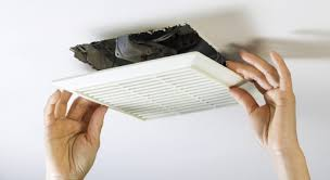 you vent a bathroom exhaust fan into