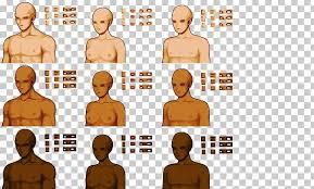 Pixel Character Template Rpg Maker Mv Pixel Art Sprite Template Png Clipart Arm