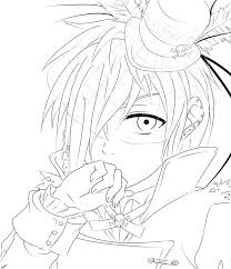 awesome black butler coloring pages free library
