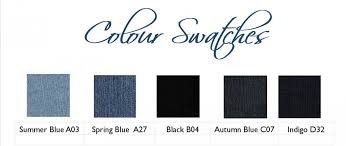 Size Chart And Colours Swatches Tre Bliss Jeans