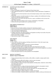 Millwright Resume Sample Millwright Resume Samples Velvet Jobs 1