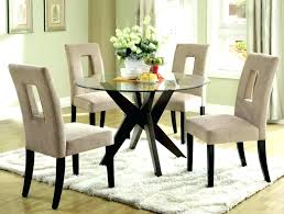 round glass kitchen table sets beige dining room set marvelous modern with and cushioned metal