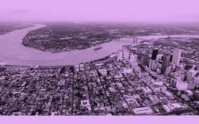 environmentalism was once a social justice movement the atlantic a drone photo of downtown new orleans and the mississippi river the french quarter