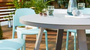 grey frosted glass garden table
