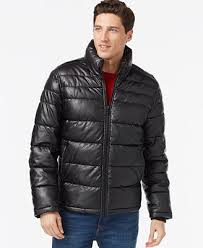 Tommy Hilfiger Faux-Leather Quilted Jacket - Coats & Jackets - Men ... & Tommy Hilfiger Faux-Leather Quilted Jacket Adamdwight.com