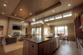Plan AM Efficiency At Its Best Open Layout And Modern - Craftsman house interiors