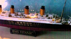 Titanic Model With Led Lights Titanic Model With Lights Youtube