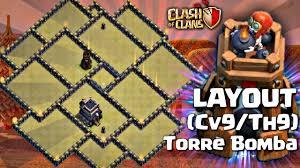 Layout Cv9 Com Torre De Bomba Guerra E Push Anti Pt Layout Th9