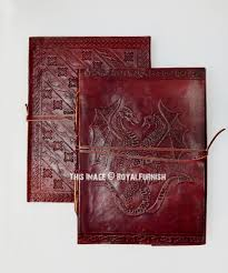 handmade celtic pentacle dragon leather diary journal notebook royalfurnish com