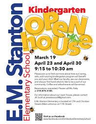 E M Stanton Kindergarten Open House Sosna South Of South