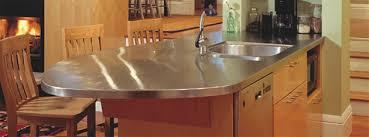 satin brushed stainless steel random swirl countertop