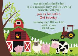 birthday party invitation templates invitations design farm animal birthday party invitation templates