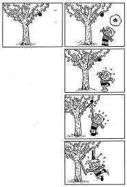 The Picture Story 4 Frame Cartoon A Chestnut Tree And A