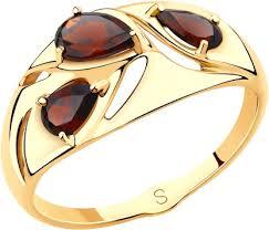 Золотое <b>кольцо SOKOLOV 715646_s</b> с гранатами — купить в ...