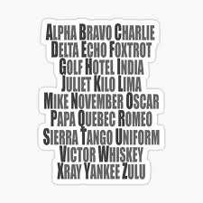 The nato phonetic alphabet, more formally the international radiotelephony spelling alphabet, is the most widely used spelling alphabet. Phonetic Alphabet Stickers Redbubble