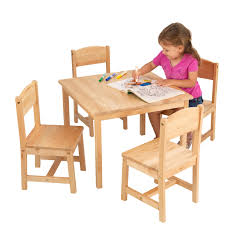 kidkraft farmhouse table and 4 chairs set multiple colors com