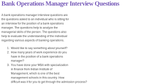 Bank Manager Interview Questions Pin By Interview Questions On Administration Interview Questions