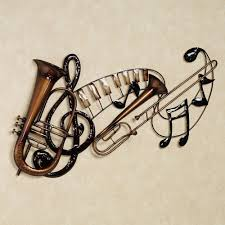 Wall Art Design Ideas: Interlude Unique Metal Wall Art Music In Most  Current Music Theme
