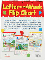 Number Of The Week Flip Chart Letter Of The Week Flip Chart Products Letter Of The