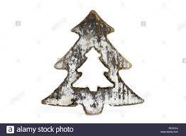 Weiße Minimalistische Snowy Christbaumschmuck Aus Holz Mit