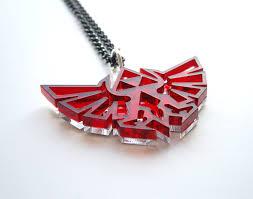 red legend of zelda necklace hyrule s royal crest