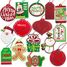 Holiday Name Christmas Gift Tags 60 Count With Untied String 15 Assorted Glitter Foil Printed Designs For Diy Xmas Present Wrap And Label Package Name Card
