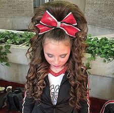 cheerleading her hair is perf