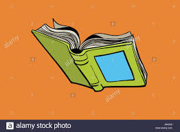 open book reading library and a book ic book cartoon pop art retro color vector ilration hand drawn