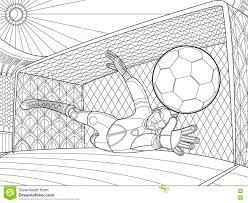 Le Gardien De But Du Football A Mani La Batte L Illustration De