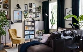 Living space furniture store Set This Colorful Small Living Space Is Filled With KnoppÄng Black Picture Frames Barkhyttan Glass Display Britishpowerliftingorganisationco Living Room Furniture Inspiration Ikea