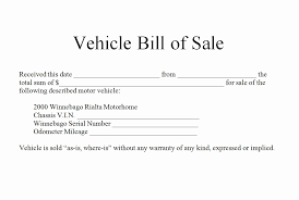 Vehicle Bill Of Sale Sample - April.onthemarch.co