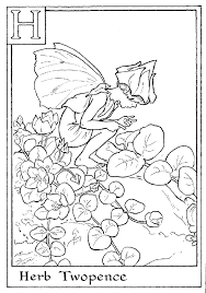 Small Picture Letter H For Herb Twopence Flower Fairy Coloring Page Alphabet