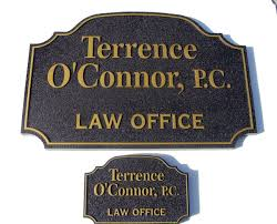 a10115 sandblasted law office wall and door signs